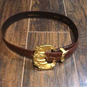 Vintage Hartnell half moon gold belt size medium